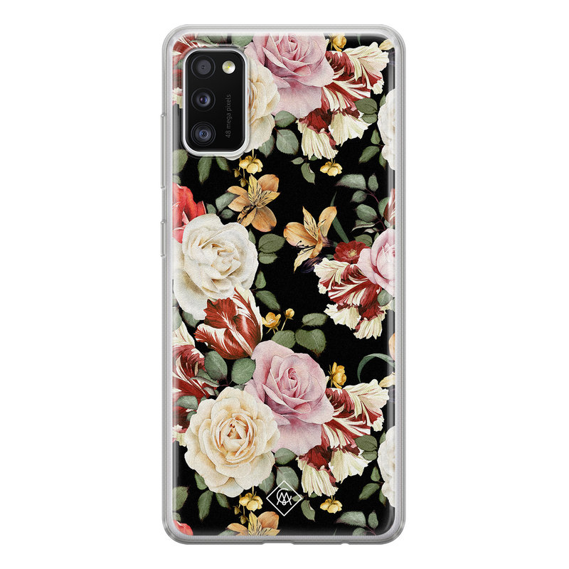 Casimoda Samsung Galaxy A41 siliconen hoesje - Flowerpower