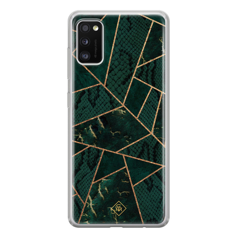 Casimoda Samsung Galaxy A41 siliconen hoesje - Abstract groen