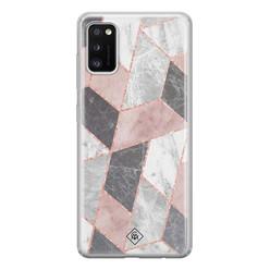 Casimoda Samsung Galaxy A41 siliconen hoesje - Stone grid
