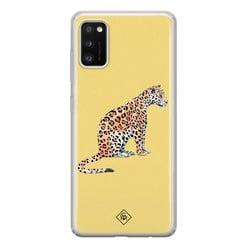 Casimoda Samsung Galaxy A41 siliconen hoesje - Leo wild