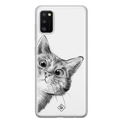 Casimoda Samsung Galaxy A41 siliconen hoesje - Peekaboo