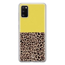 Casimoda Samsung Galaxy A41 siliconen hoesje - Luipaard geel