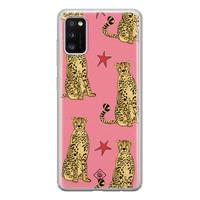 Casimoda Samsung Galaxy A41 siliconen hoesje - The pink leopard