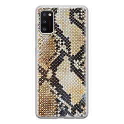 Casimoda Samsung Galaxy A41 siliconen hoesje - Golden snake