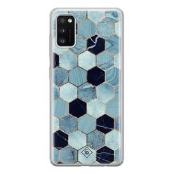 Casimoda Samsung Galaxy A41 siliconen hoesje - Blue cubes