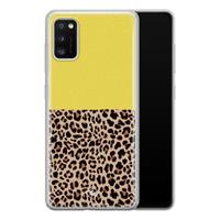 Casimoda Samsung Galaxy A41 siliconen hoesjje - Luipaard geel