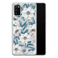 Casimoda Samsung Galaxy A41 siliconen telefoonhoesje - Touch of flowers