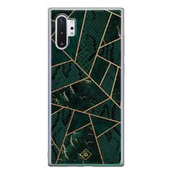 Casimoda Samsung Galaxy Note 10 Plus siliconen hoesje - Abstract groen