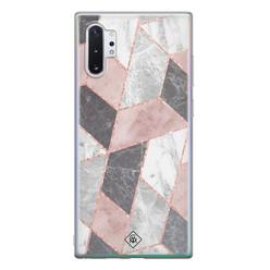 Casimoda Samsung Galaxy Note 10 Plus siliconen hoesje - Stone grid