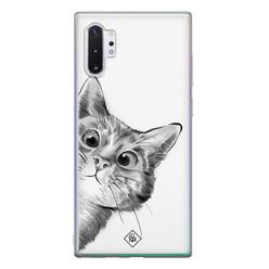 Casimoda Samsung Galaxy Note 10 Plus siliconen hoesje - Peekaboo