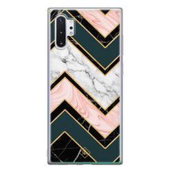 Casimoda Samsung Galaxy Note 10 Plus siliconen hoesje - Marmer triangles