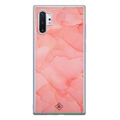 Casimoda Samsung Galaxy Note 10 Plus siliconen hoesje - Marmer roze