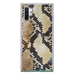 Casimoda Samsung Galaxy Note 10 Plus siliconen hoesje - Golden snake