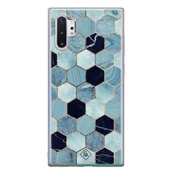 Casimoda Samsung Galaxy Note 10 Plus siliconen hoesje - Blue cubes