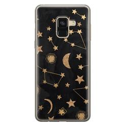Casimoda Samsung Galaxy A8 (2018) siliconen hoesje - Counting the stars