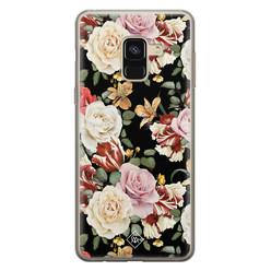 Casimoda Samsung Galaxy A8 (2018) siliconen hoesje - Flowerpower