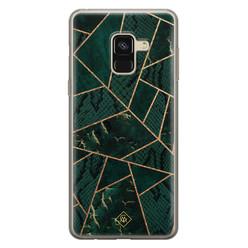 Casimoda Samsung Galaxy A8 (2018) siliconen hoesje - Abstract groen