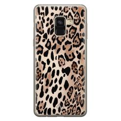 Casimoda Samsung Galaxy A8 (2018) siliconen hoesje - Golden wildcat