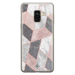 Casimoda Samsung Galaxy A8 (2018) siliconen hoesje - Stone grid