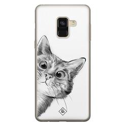 Casimoda Samsung Galaxy A8 (2018) siliconen hoesje - Peekaboo