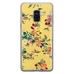 Casimoda Samsung Galaxy A8 (2018) siliconen hoesje - Floral days