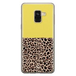 Casimoda Samsung Galaxy A8 (2018) siliconen hoesje - Luipaard geel