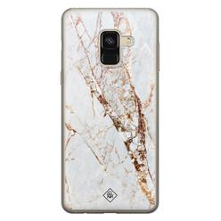 Casimoda Samsung Galaxy A8 (2018) siliconen hoesje - Marmer goud