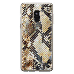 Casimoda Samsung Galaxy A8 (2018) siliconen hoesje - Golden snake