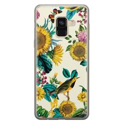Casimoda Samsung Galaxy A8 (2018) siliconen hoesje - Sunflowers
