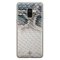 Casimoda Samsung Galaxy A8 (2018) siliconen hoesje - Oh my snake