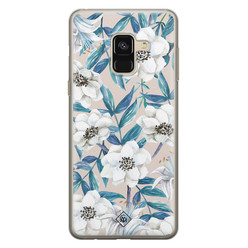 Casimoda Samsung Galaxy A8 (2018) siliconen hoesje - Touch of flowers