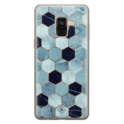 Casimoda Samsung Galaxy A8 (2018) siliconen hoesje - Blue cubes