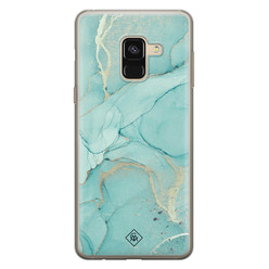 Casimoda Samsung Galaxy A8 (2018) siliconen hoesje - Touch of mint