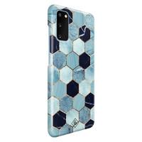 Casimoda Samsung Galaxy S20 rondom bedrukt hoesje - Blue cubes