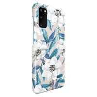 Casimoda Samsung Galaxy S20 rondom bedrukt hoesje - Touch of flowers
