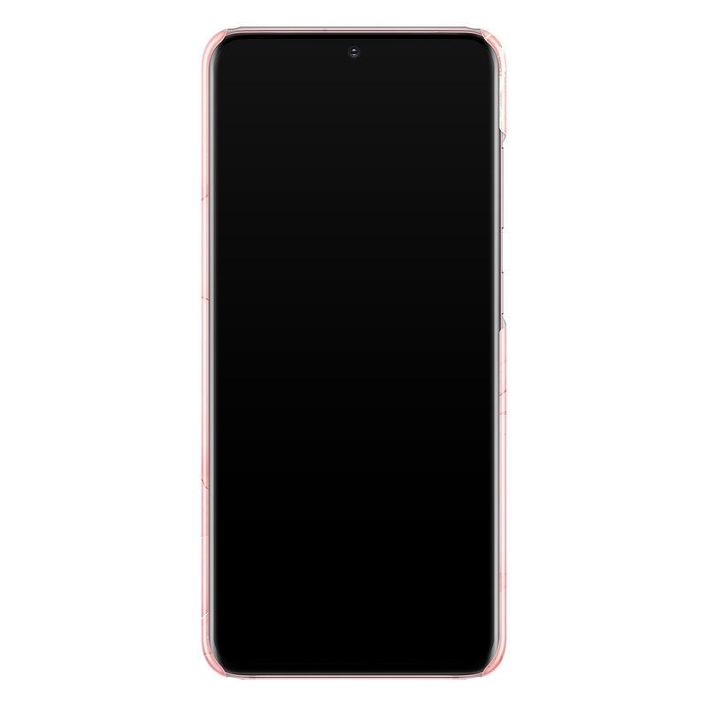 Casimoda Samsung Galaxy S20 rondom bedrukt hoesje - Marmer roze