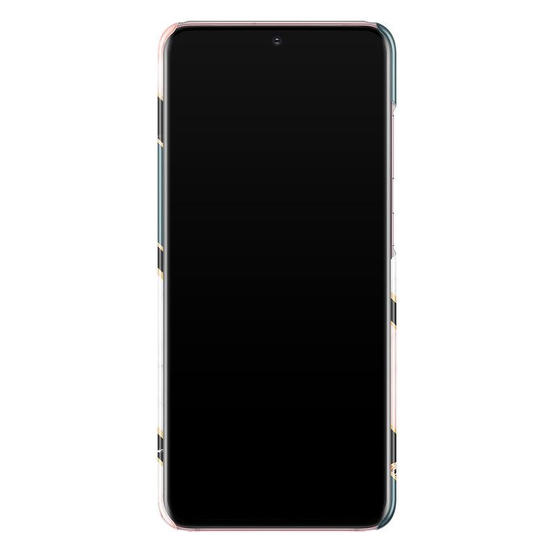 Casimoda Samsung Galaxy S20 rondom bedrukt hoesje - Marble zigzag