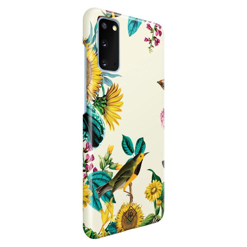 Casimoda Samsung Galaxy S20 rondom bedrukt hoesje - Sunflowers