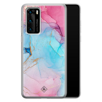 Casimoda Huawei P40 siliconen hoesje - Marble colorbomb