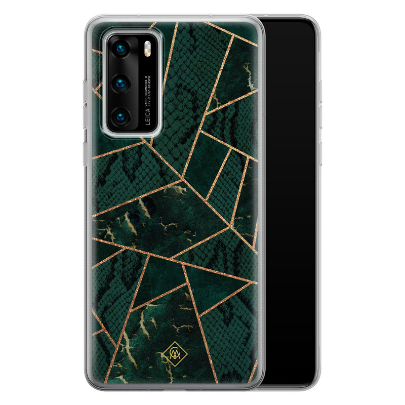Casimoda Huawei P40 siliconen hoesje - Abstract groen