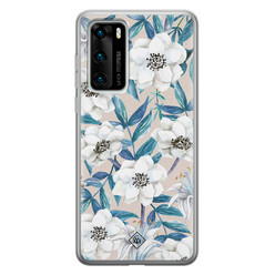 Casimoda Huawei P40 siliconen hoesje - Touch of flowers
