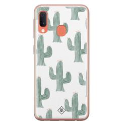 Casimoda Samsung Galaxy A20e siliconen hoesje - Cactus print