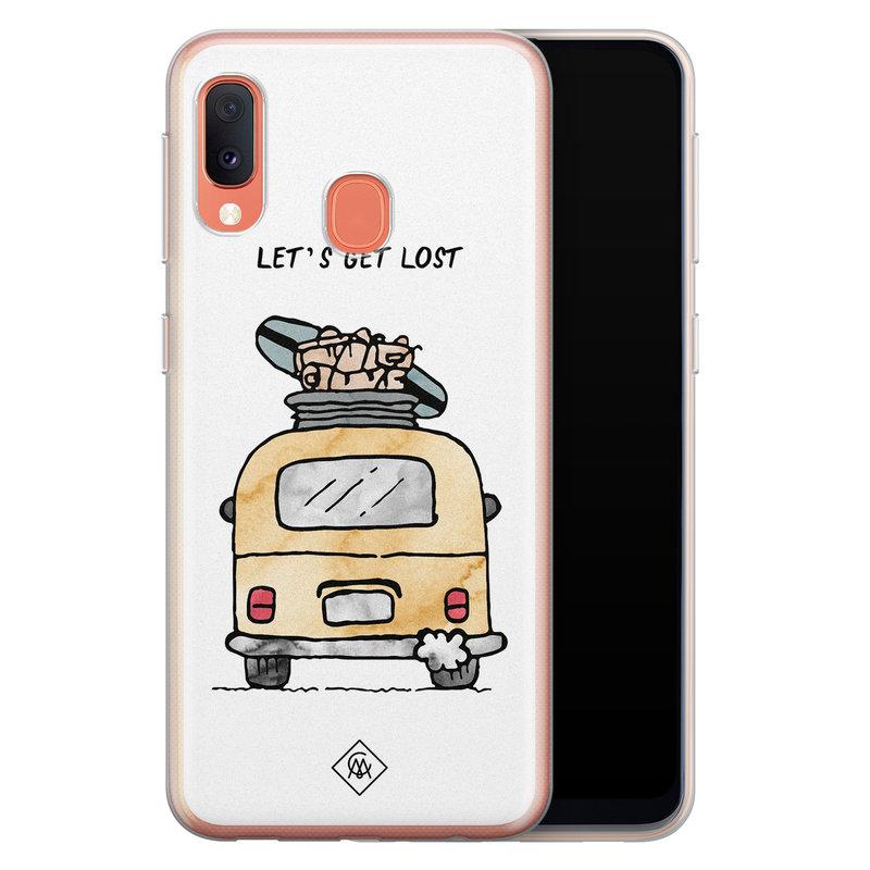 Casimoda Samsung Galaxy A20e siliconen hoesje - Let's get lost