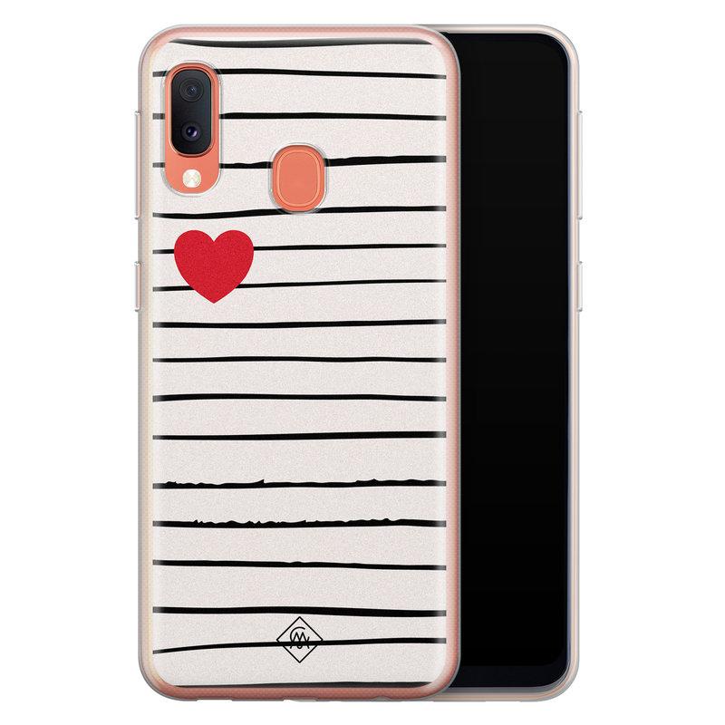 Casimoda Samsung Galaxy A20e siliconen hoesje - Heart queen