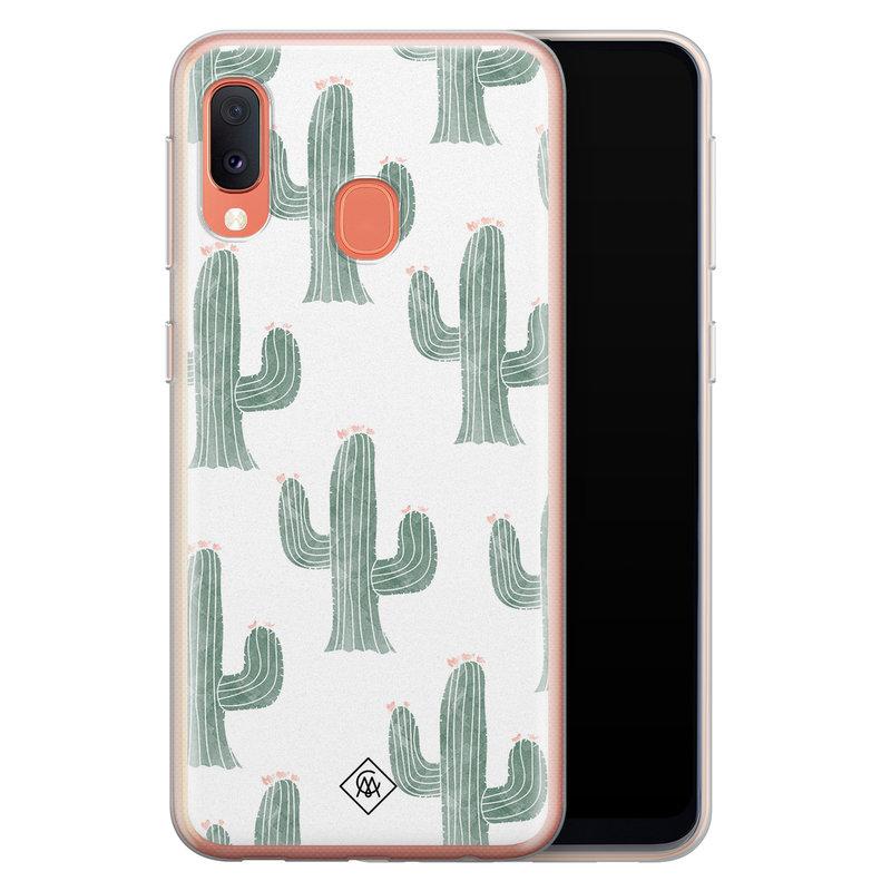 Casimoda Samsung Galaxy A20e siliconen telefoonhoesje - Cactus print
