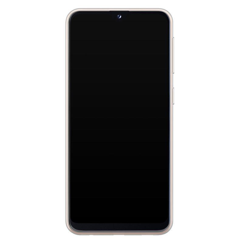 Casimoda Samsung Galaxy A20e siliconen telefoonhoesje - Luipaard grijs