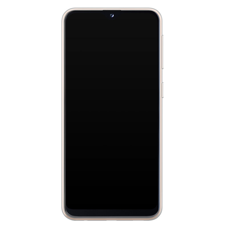 Casimoda Samsung Galaxy A20e siliconen telefoonhoesje - Marmer mint mix