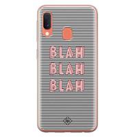 Casimoda Samsung Galaxy A20e siliconen telefoonhoesje - Blah blah blah