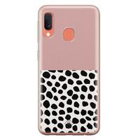 Casimoda Samsung Galaxy A20e siliconen hoesje - Pink dots