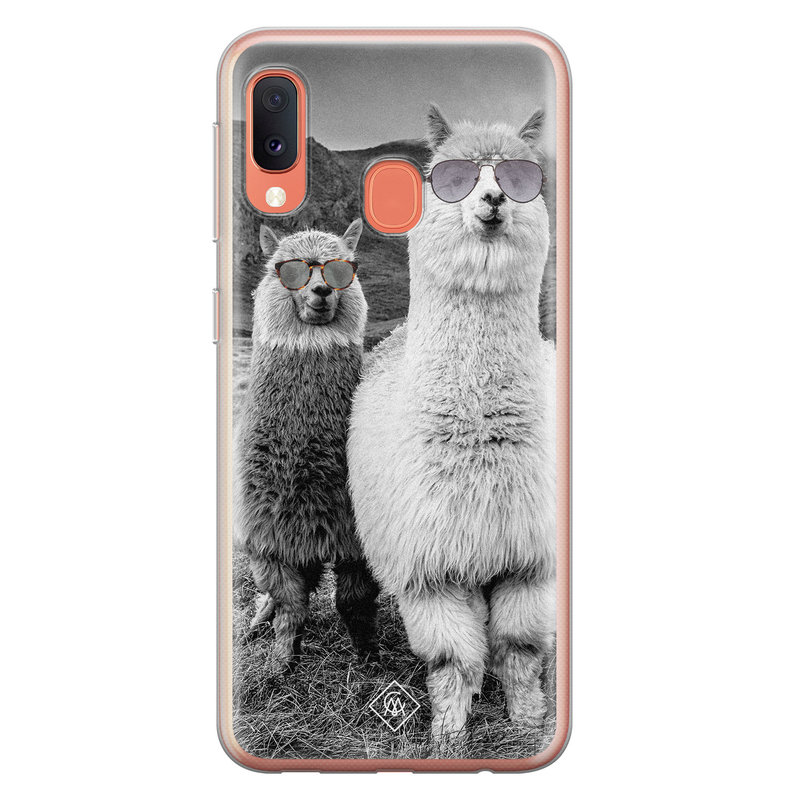 Casimoda Samsung Galaxy A20e siliconen telefoonhoesje - Llama hipster